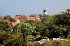 View of Gudhjem on Bornholm Stock Image