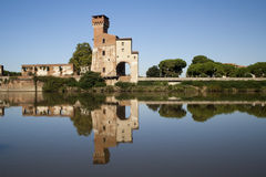 View of Guelph Tower on the River Arno, Pisa Royalty Free Stock Image