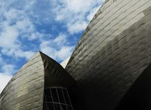 A view of the Guggenheim. Shot in color. A view of the Guggenheim  museum. Set in Bilbao, Euskadi, Spain, Europe Royalty Free Stock Photos