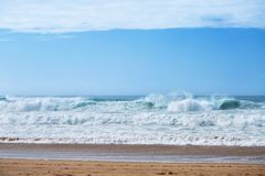 View of Guincho Beach, Cascais, Portugal. stock photography