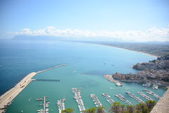 View of gulf of castelammare sicily Royalty Free Stock Photos
