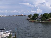 View from Gulf Channel; Gulf Coast Florida Royalty Free Stock Image