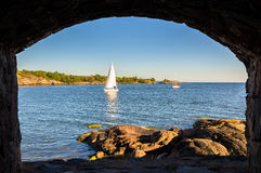 View of the Gulf of Finland from Suomenlinna fortress Royalty Free Stock Photography