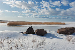 View of the Gulf of Finland, winter Stock Image