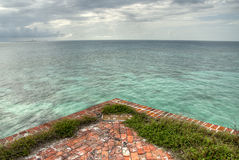 View of Gulf from Fort Jefferson Royalty Free Stock Images