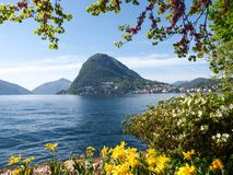 View of the Gulf of Lugano Royalty Free Stock Images