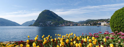View of the Gulf of Lugano Royalty Free Stock Photography