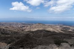 A view of the Gulf of Tadjoura from Arta, Djibouti, East Africa. Surrounded by arta mountains Royalty Free Stock Images
