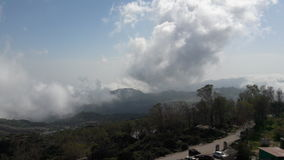 View from Guru Shikhar clouds and mist. View down as we climbed uo Guru Shikhar Stock Photography