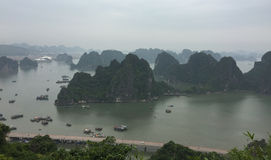 View of Ha Long bay in Quang Ninh, Vietnam.  Stock Photos
