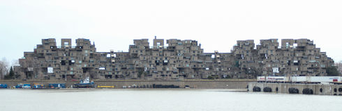 A view of Habitat 67, a model community and housing complex in Montreal, Quebec, Canada Stock Photography