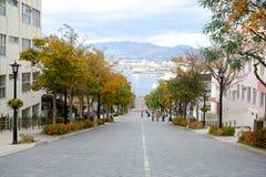 View from Hachiman-zaka slope in Hakodate, Hokkaido, Japan. royalty free stock images