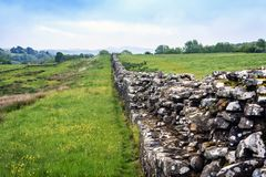 Hadrians Wall, Northumberland , England. Royalty Free Stock Images