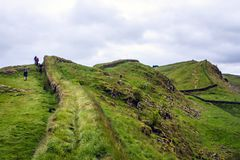 Hadrians Wall, Northumberland , England. View of Hadrians Wall near the border of England and Scotland Royalty Free Stock Photos