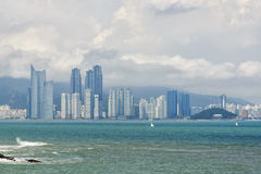 View of haeundae from igidae cliff Stock Images