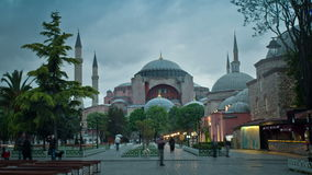 View of Hagia Sofia or Ayasofya in Istanbul, Turkey stock video footage