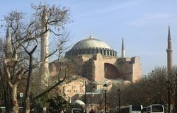 Hagia Sophia, Istanbul, Turkey - December 2014 stock photos