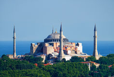 The view of Hagia Sophia on the background of the Marmara Sea, I Royalty Free Stock Images