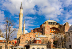 View of Hagia Sophia (Holy Wisdom) - Istanbul Royalty Free Stock Photos