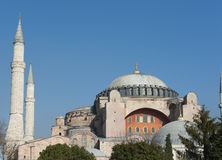 View of Hagia Sophia in Istanbul Turkey Royalty Free Stock Photos