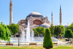 View of the Hagia Sophia in Istanbul Royalty Free Stock Image