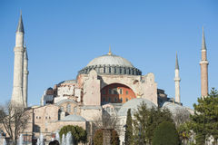 View of the Hagia Sophia in Istanbul Turkey Stock Image