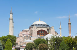 View of the Hagia Sophia in Istanbul Turkey Stock Photo
