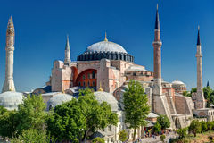 View of the Hagia Sophia in Istanbul, Turkey. Hagia Sophia in Istanbul, Turkey. Hagia Sophia is the greatest monument of Byzantine Culture stock photography