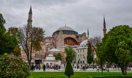 View of Hagia Sophia in Istanbul, Turkey royalty free stock photos