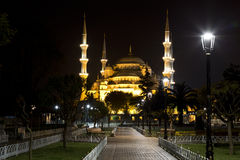 View of the Hagia Sophia at night Stock Images