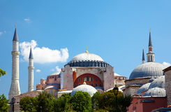 The view of Hagia Sophia from Sultan Ahmet Park, Istanbul Stock Images