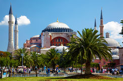 The view of Hagia Sophia from Sultan Ahmet Park, Istanbul Royalty Free Stock Photo