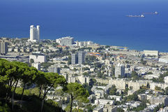 View of Haifa. Mediterranean Sea, Israel, Middle East Royalty Free Stock Photography