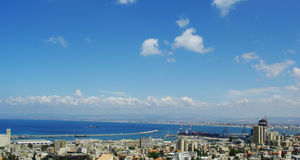View of Haifa city Stock Photos
