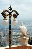 View of Haifa city and eagle statue,Israel Stock Photography