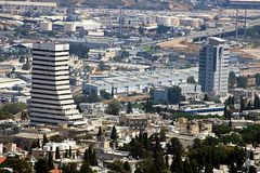 View of Haifa downtown, Israel Stock Photos
