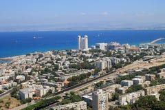 View of Haifa from Mount Carmel, Israel Royalty Free Stock Photos
