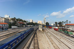 View of Haifa's downtown area Stock Images