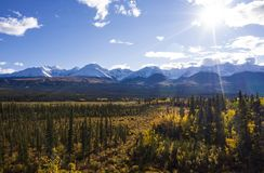 View from Haines Junction stock photos