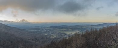 View from Hajsky kostel observation place. In Jizerske mountains Stock Photos