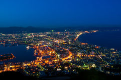 View of hakodate, city scape at night Stock Photo