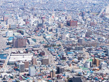 View of Hakodate cityscape, Japan Royalty Free Stock Image