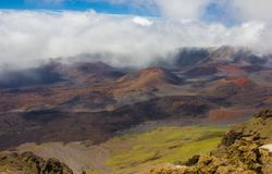 Inside the Haleakalā Volcano stock photography