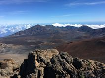 View of Haleakala in Maui stock image
