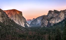 Yosemite National Park is in California's Sierra Nevada mountains royalty free stock image