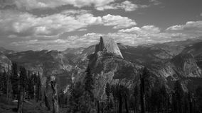 View of Half Dome from trail at Yosemite Stock Images