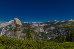 View of Half Dome in Yosemite National Park Royalty Free Stock Photos