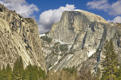 View of Half Dome at Yosemite on Spring Day Stock Photography