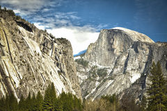 View of Half Dome at Yosemite on Spring Day Stock Photos