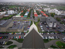 View from Hallgrimskirkja royalty free stock photography